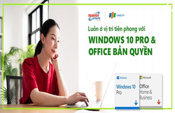 Windows 10 Pro và Office bản quyền
