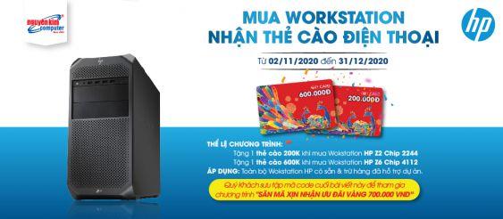 Mua Workstation HP tặng ngay thẻ cào điện thoại